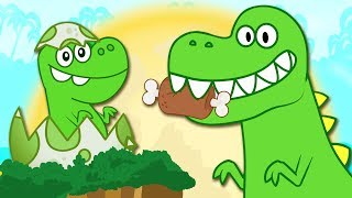 Dinosaur Songs | Rumble Rumble In The Jungle | Nursery Rhymes for Children by HooplaKidz