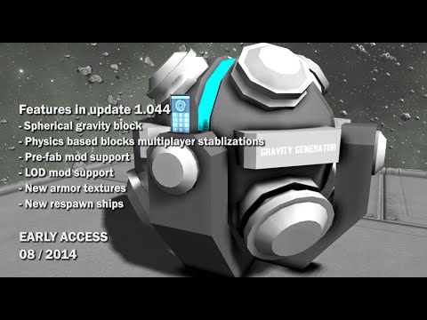Space Engineers - Spherical gravity generator, Modding for prefab and respawn ships