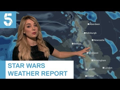"""""""If you Luke father west....if you're Wookiee"""" Today's Star Wars weather"""