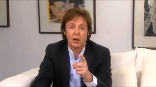 Paul McCartney saluda a chile 1993,2011 y 2014