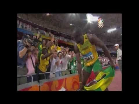 Usain Bolt 100m 9.69 ( LIVE VIDEO ) Beijing Olympic Gold &amp; WR