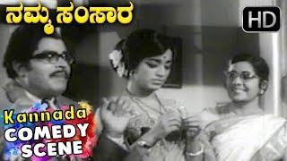 Wedding comedy scenes | Namma Samsara Kannada Movie | Kannada Comedy Scenes | Dr.Rajkumar