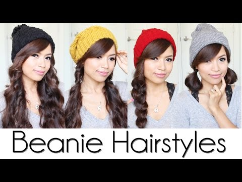 Cute & Easy Hairstyles for Beanies / Hats
