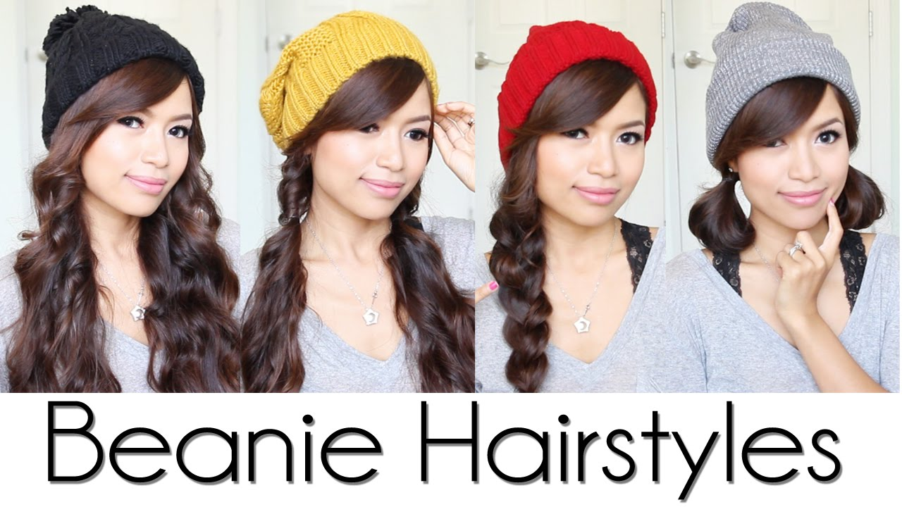 Hairstyles For Long Hair With Hats : Cute & Easy Hairstyles for Beanies / Hats - YouTube