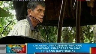 Lalaking pinagbibintangang aswang, pinagtataga ang 3 niyang kapitbahay sa Camarines Sur