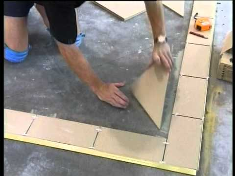 How to Tile & Grout Part 3: Tiling The Floor, The Best Way to tile a floor start to finish