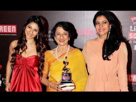 Kajol Devgn & Tanisha Mukherjee  On The Red Carpet Of 20th Annual Life Ok Star Screen Awards video