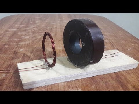 How to Make 100% Free Energy Generator Magnet using Light Bulb Exhibition Project 2018 thumbnail