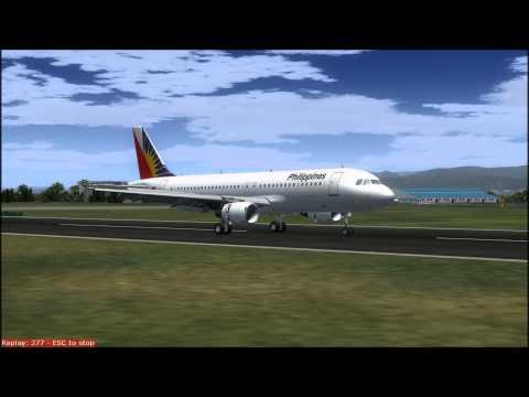 FS9 Philippine Airlines A320 Landing at Mactan-Cebu International Airport