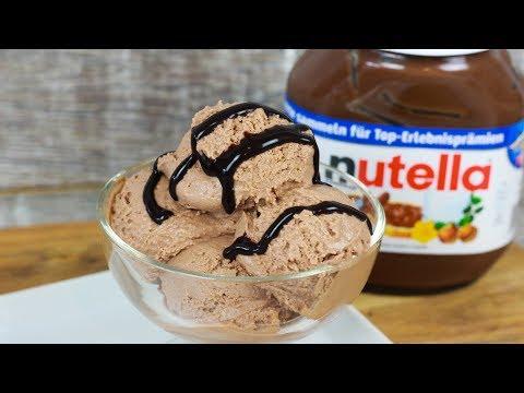 Cremiges Nutella Eis ohne Eismaschine mit nur 4 Zutaten