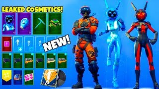 *NEW* Leaked Fortnite SKINS & EMOTES..! (FREE Wraps, Space Bunny, Running Man V3)