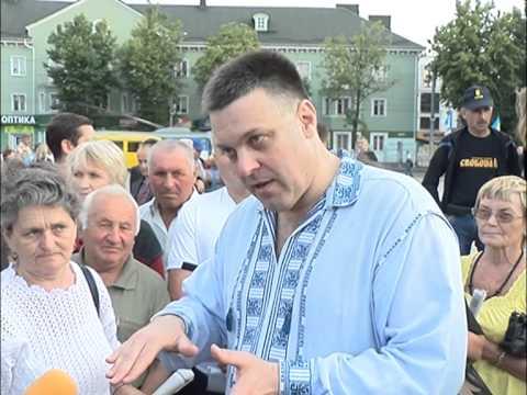 Жителі Рівненщини виступили проти політики уряду Яценюка