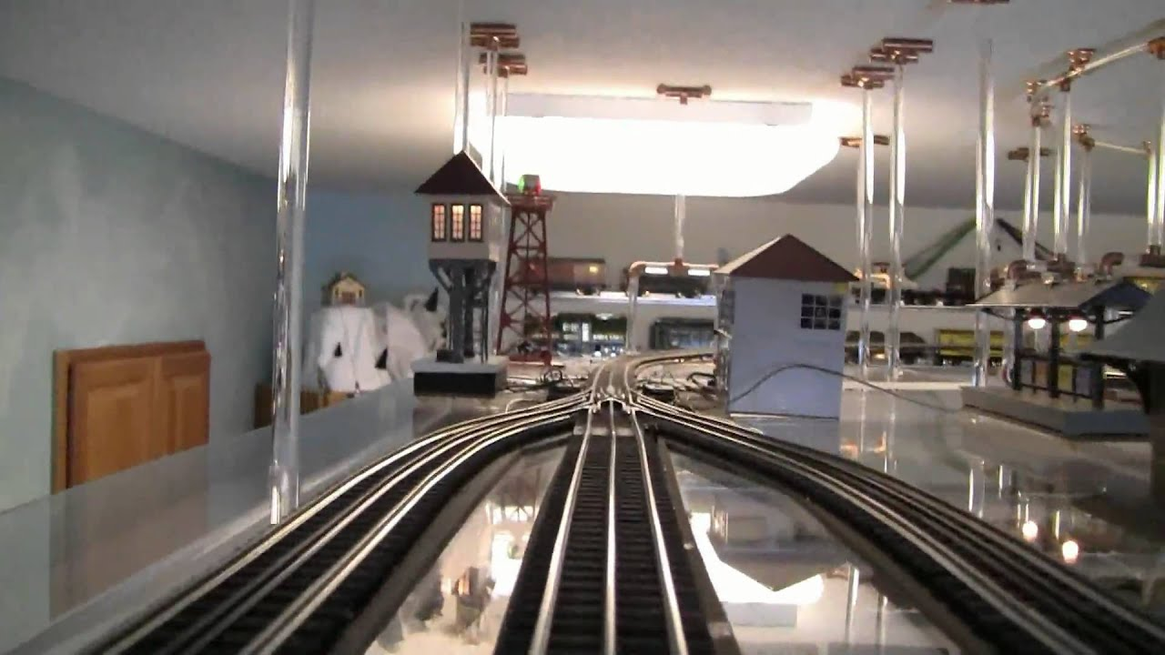 O Gauge Ceiling Mount Train Tour Youtube