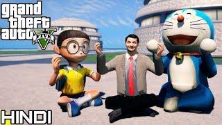 Mr BEAN with NOBITA & DORAEMON in GTA V #7