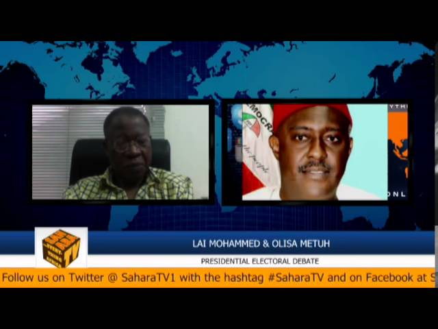 #NigeriaDecides2015: Olisa Metuh And Lai Mohammed Debate PDP & APC Campaign Platforms Part I