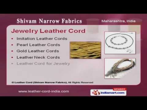 Decorative and Braided Leather Cords by Leather Cord (Shivam Narrow Fabrics), Mu