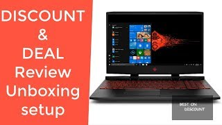 OMEN by HP 15.6 inch Gaming Laptop 15-dc0010nr REVIEW DEAL DISCOUNT UNBOXING SETUP 3WL23UA#ABA