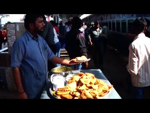 Variety Of Foods On Indian Railways Station - Bhusawal Junction, Maharastra, India