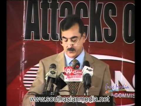Attacks on Journalists and Media Freedom - Conference, PM - Syed Yousaf Raza Gillani
