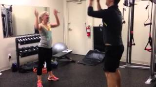 Kim & Dave's partner workout!
