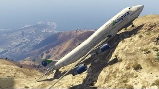 GTA 5- Unbelievable Air Plane Landing at top of Mountain