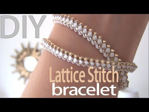 DIY Fashion ♥ Lattice Stitch Bracelet