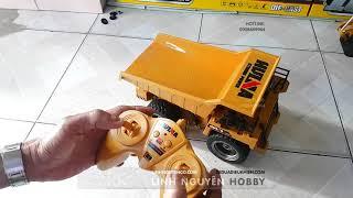 Test xe cẩu xe xúc xe ben đồ chơi điều khiển từ xa - RC Excavator and Dump Truck
