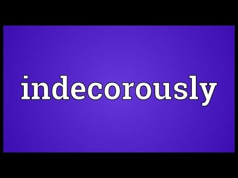 Header of indecorously