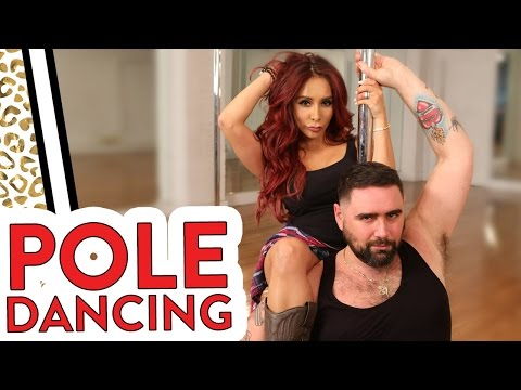 "Nicole ""Snooki"" and Joey try POLE DANCING WORKOUT!"