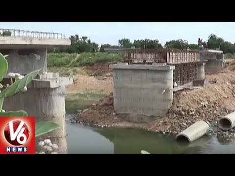 Champla Thanda Residents Face Problems Due To Delay In NSLC Bridge Construction | Khammam Dist | V6