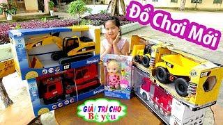 ĐỒ CHƠI TRẺ EM máy xúc xe cẩu xe cứu hỏa | TOYS CHILDREN excavator fire truck crane