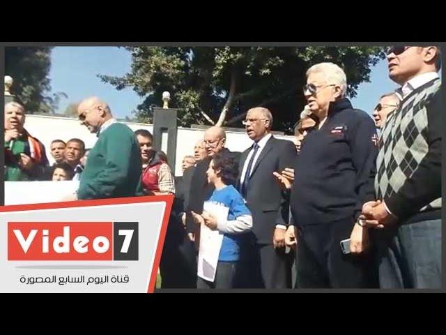 بالفيديو..مسيرة الرياضيين يقرؤان الفاتحة لشهداء العريش