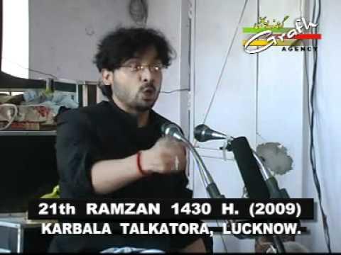 Shahdat Hazrat Ali  21 Ramzan  At Lucknow Majalis By Allama Wasi Asghar Zaidi video