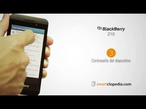 25 blackberry z10 establecer contraseña dispositivo