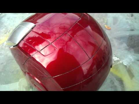 IronMan Mark V super shiney helmet