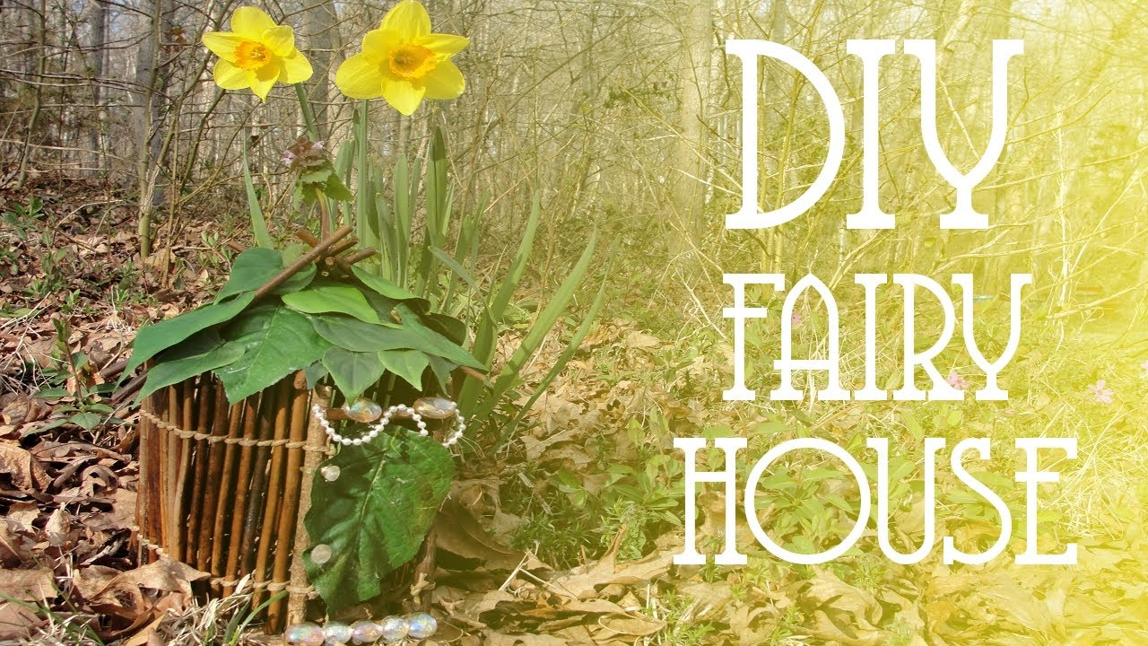 diy fairy house youtube. Black Bedroom Furniture Sets. Home Design Ideas