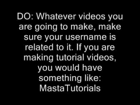 how to make a good username for youtube