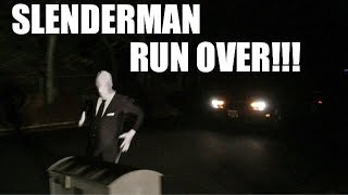 SLENDERMAN RUN OVER BY CAR!! Extreme Rules Backyard Wrestling Match