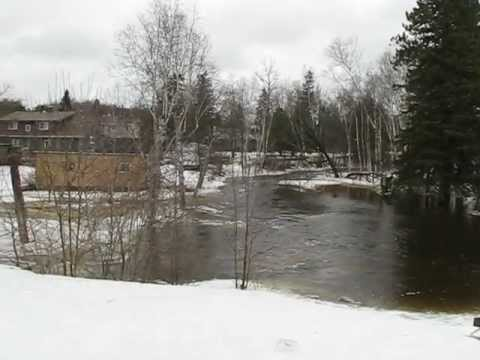 Genesee Creek in Powassan March 12 2013