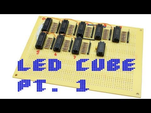 LED Cube Pt. 1 - Latch Board