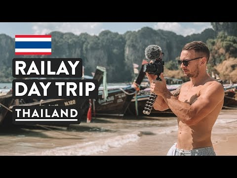 BEACH DAY IN RAILAY, IS IT OVERRATED? ☀️ | Thailand Travel Vlog | From Ao Nang, Krabi
