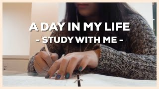 A DAY IN MY LIFE - MORNING ROUTINE & STUDY WITH ME / My first video on YouTube | Shia
