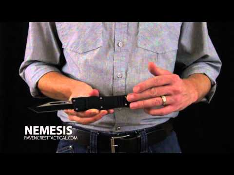 Raven Crest Tactical: Nemesis OTF (Out The Front) Knife Overview