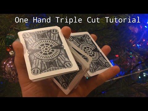 One Hand Triple Cut Tutorial // Тройная тасовка одной рукой Обучение