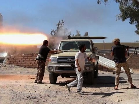 Raw: Violent Clashes Between Libyan Militias