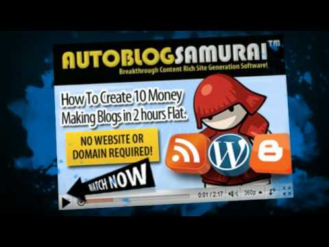 0 Autoblog samurai + auto blogging software