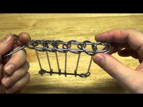 Baguenaudier Chinese Rings Desperado Centipede puzzles solution and tutorial