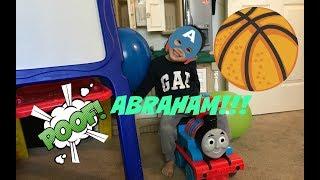 Abraham Pops Balloons Nerf Guns Johnny Johnny Yes Papa