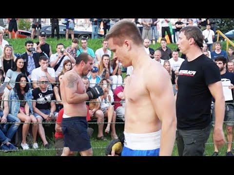 Боксер против Борца, Зрелищный бой!!!