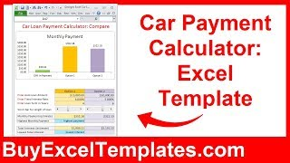 Car Payment Calculator - Calculate Monthly Auto Loan Payment & Interest - Excel Template Spreadsheet